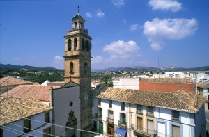Kirche Gata de Gorgos, dörfer Costa Blanca Region