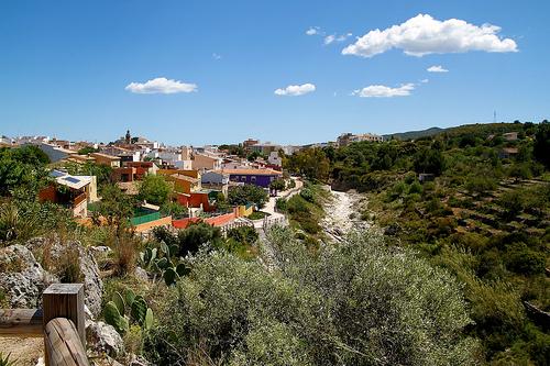 Flüss Gorgos, Dörfer Costa Blanca