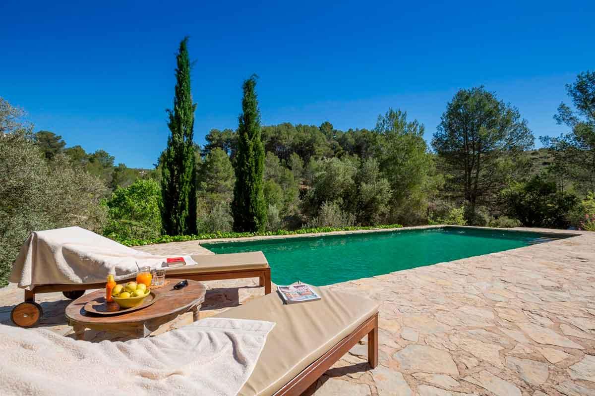 Der pool von Agriturismo Spanien Refugio Marnes