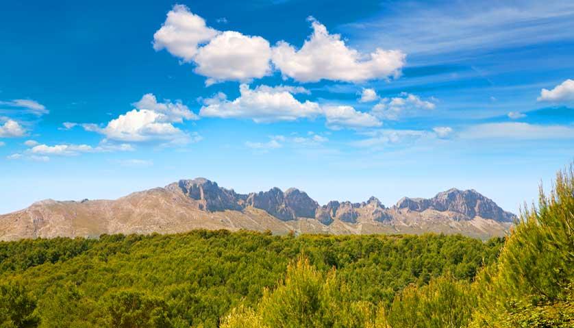 wanderurlaub spanien, die bergen der Alicante Provinz