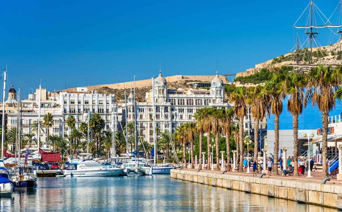 Alicante Stadt, die Hauptstadt der Provinz Alicante