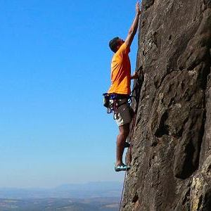 Free climbing in the Sierra de Bernia