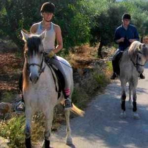 Horseback riding near Benissa at Refugio Marnes