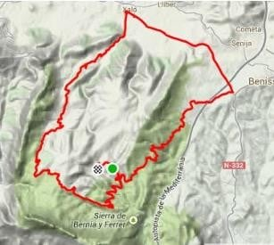Map Of Spain Jalon.Road Cycling Spain Jalon Area Refugio Marnes