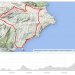 Map cycling trip Spain, benissa, javea benissa