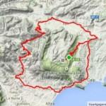 Road cycling costa blanca, map of trip ´Coll de rates´