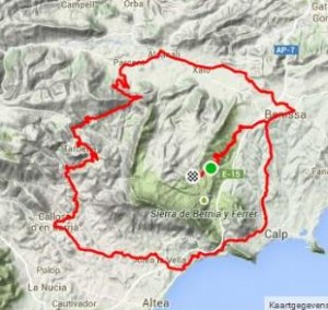 Road cycling Costa Blanca coll de rates Refugio Marnes