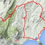 Map of ride during your cycling holidays Spain, Calpe Fanadix