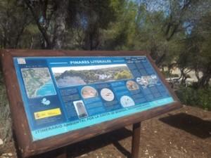 Hiking vacations Spain, Information board paseo ecologico Benissa coast