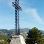Hiking Spain Alicante, the cross at Miradores de la Solana