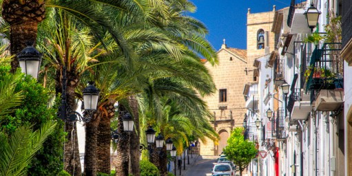 Old town Benissa, one of the pretty villages Costa Blanca