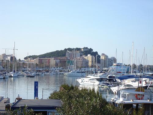 Harbour, Denia, small cities Costa Blanca, Denia