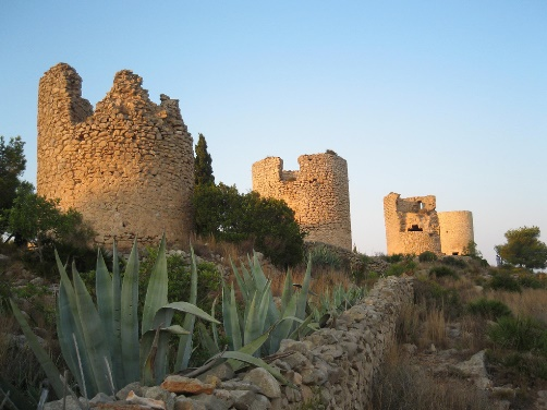 the mills of Javea, one of the places to visit in the province of Alicante