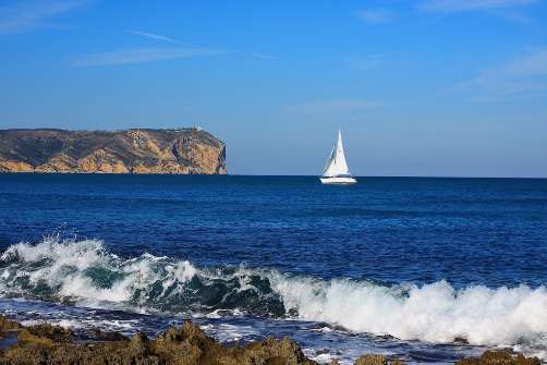 Sea at Javea between Arenal and Puerto