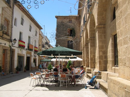 Centre of Javea, one of the places to visit once in the Alicante area
