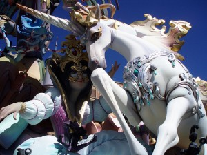Fallas in Valencia, cities Spain