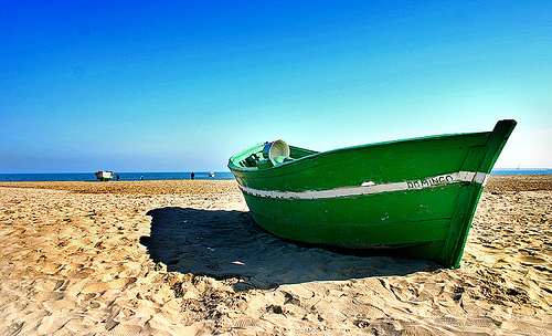 boat on the beach, Cities Valencia