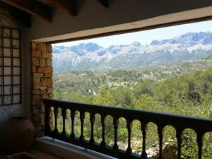 View from Finca for rent Spain Finca Iris
