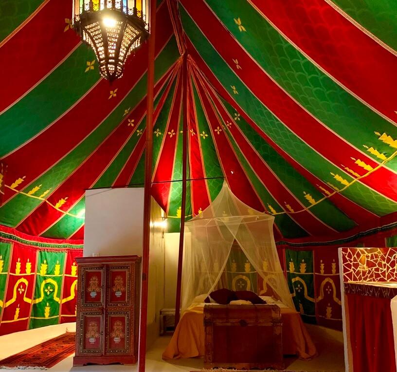 Glamping tent Valencia Interior