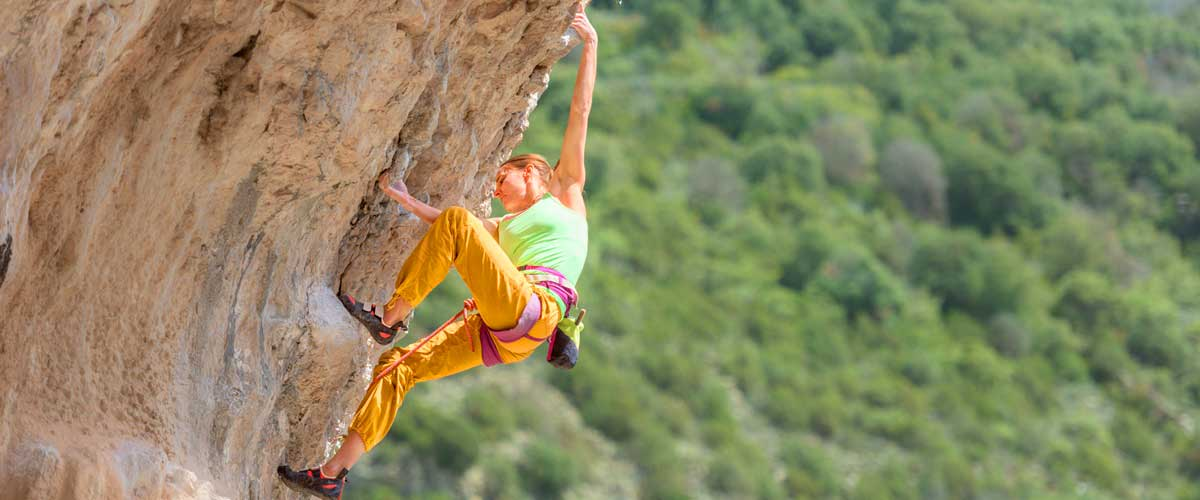 Rock climbing at the Costa Blanca Spain