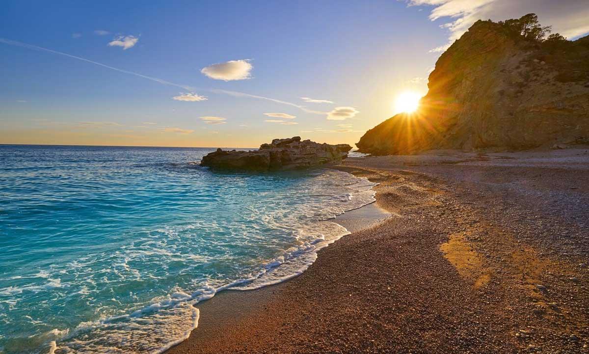 caleta beach villajoyosa in the alicante province