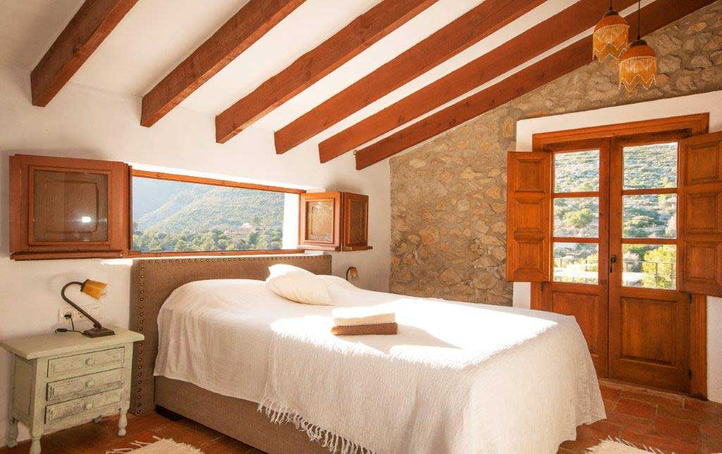 master bedroom casa grillo your rustic holiday home at the costa blanca