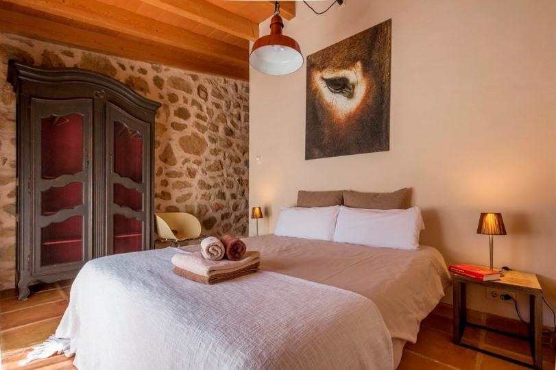 Una de los habitaciones B&B de Casa Rural Refugio Marnes
