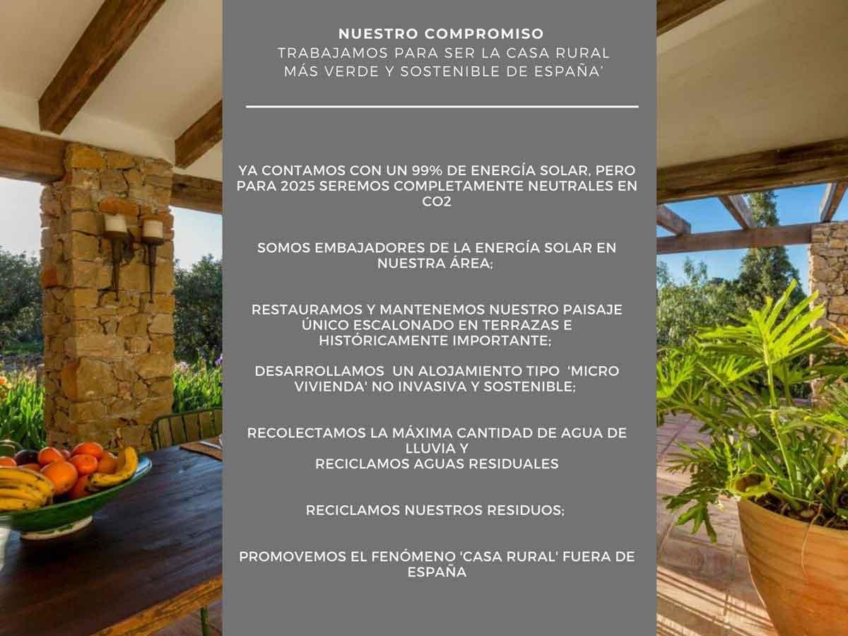 compromiso casa rural Refugio Marnes Alicante