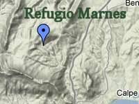 Terrain map of Marina Alta