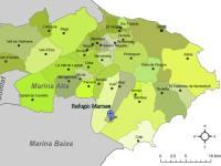 Karte Marina Alta