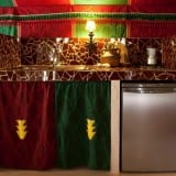 Kitchen area of La Jaima, your deluxe rental tent in Spain
