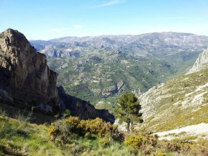 Uitzicht terugweg Wandeling Sierra de Bernia