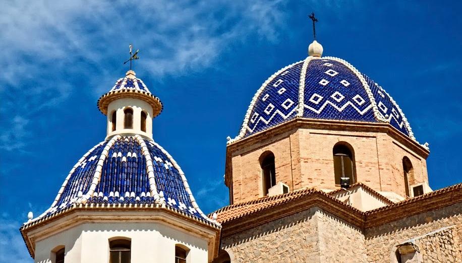 Mooiste dorpen Costa Blanca, de kerk van Altea