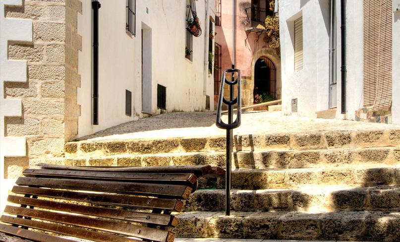 Mooie dorpen Costa Blanca, straatje in Benissa