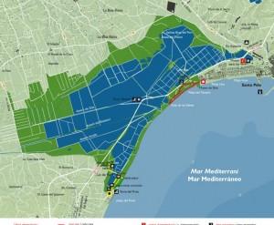 Vogelgebieden Alicante, kaart Santa Pola