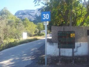 Aanvang route Hiken Alicante de Montgó