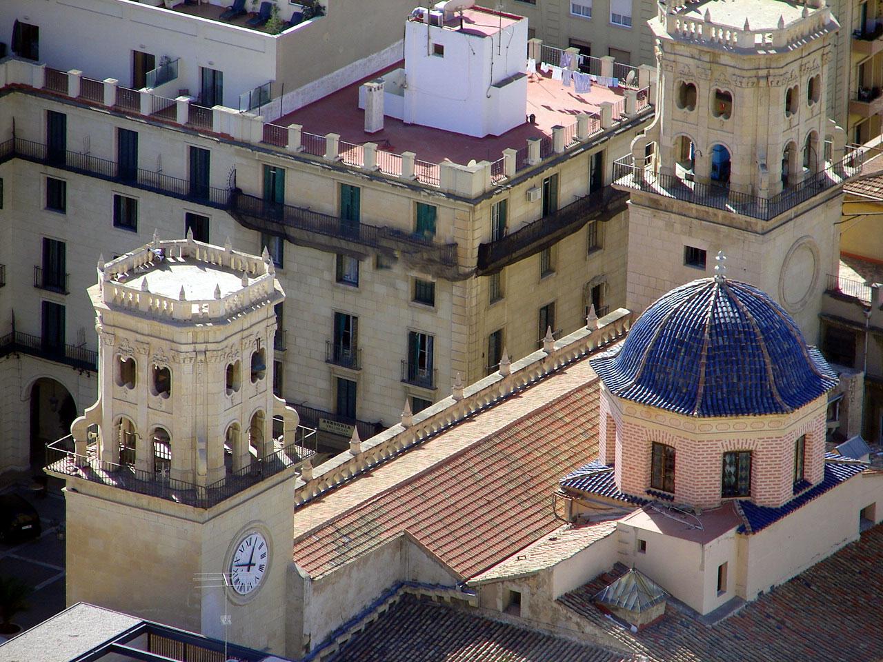 Alicante gemeentehuis van boven
