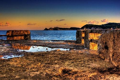Dorpen Costa Blanca, javea bij avondlicht