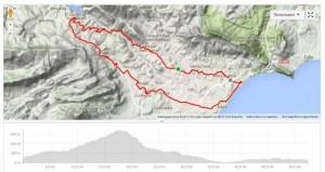 Route van de route naar Guadalest tijdens fietsvakantie Costa Blanca