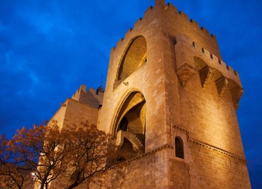 Torres de Serranos in de prachtige stad Valencia