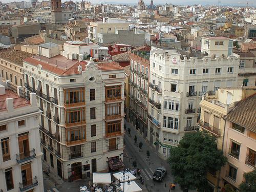 Steden spanje, een kijkje van bovenaf