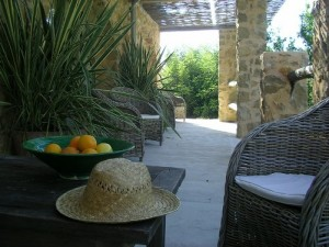 Terras bed & breakfast Spanje