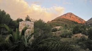 Uitzicht Los Establos naar achteren, Bed and Breakfast Spanje