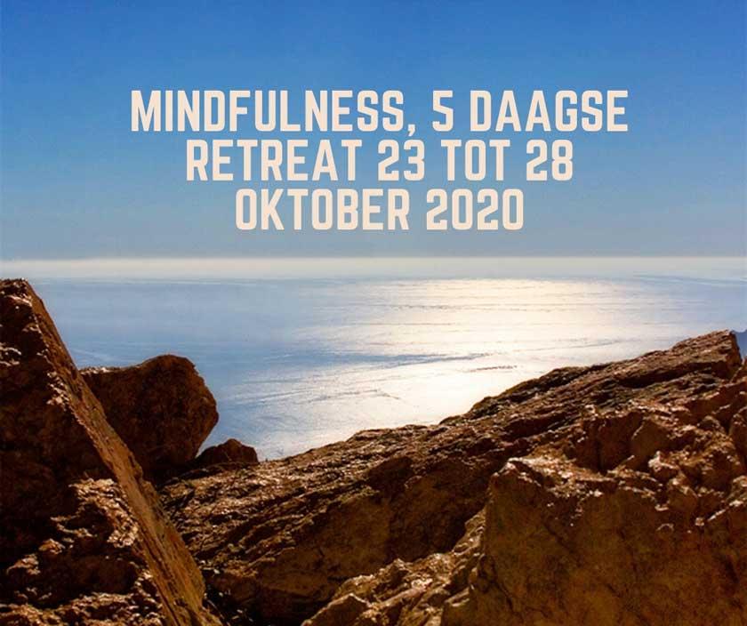 mindfulness 5 daagse spanje oktober 2020