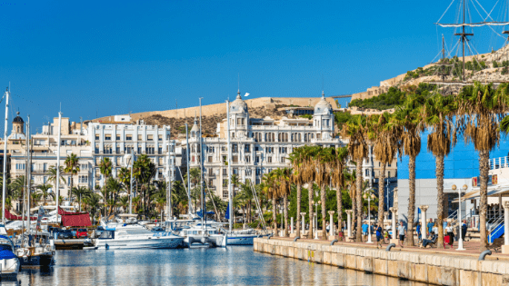 costa blanca en het binnenland haven alicante