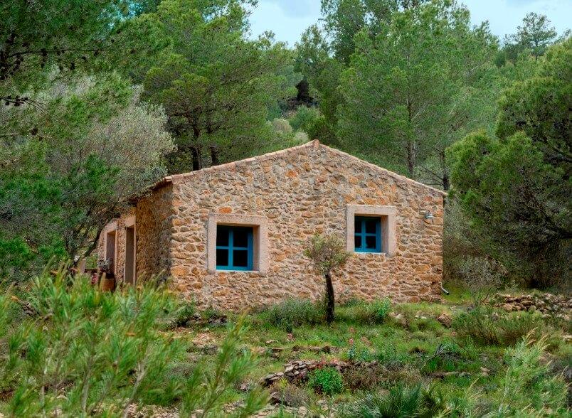 Natuurhuisje Spanje zijgevel