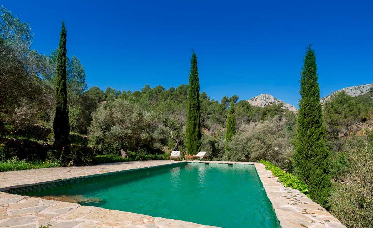 B&B Spanje, zwembad Refugio Marnes
