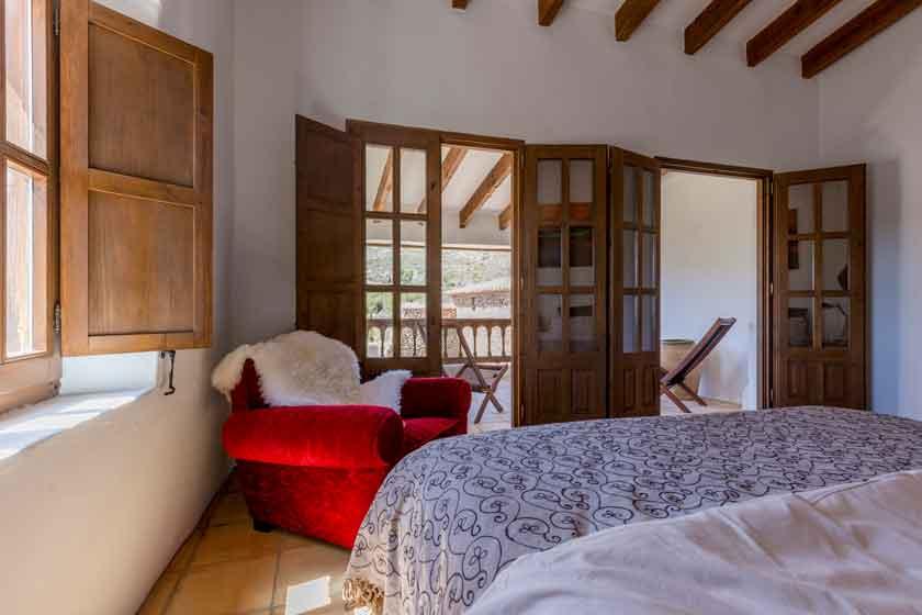 Slaapkamer Finca te huur Spanje