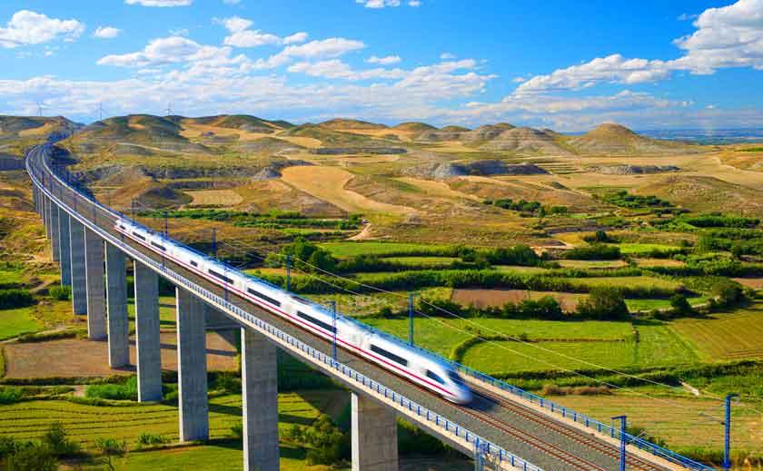 duurzaam toerisme Spanje, reizen met de trein