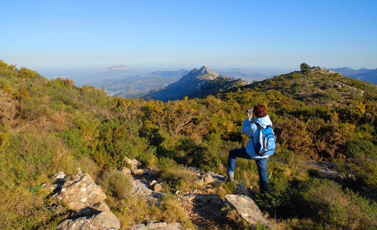 wandelen rond de Jalon Vallei Caballo Verde